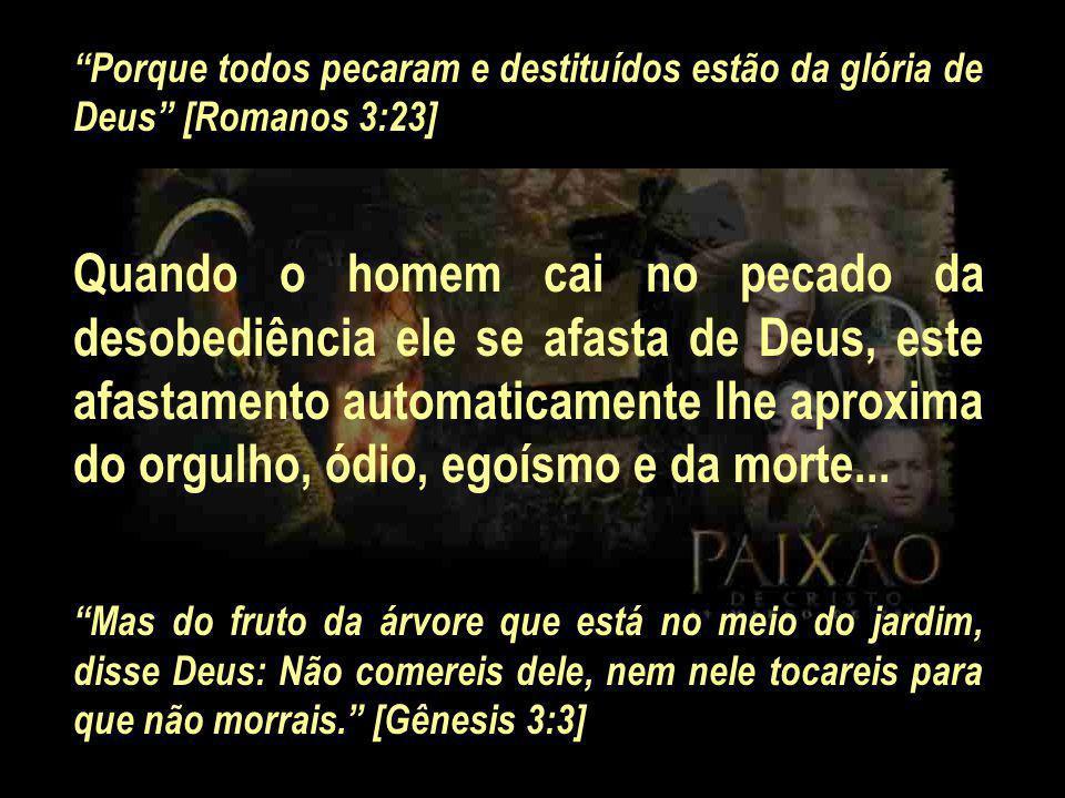 Porque todos pecaram e destituídos estão da glória de Deus [Romanos 3:23]